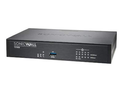 SonicWALL TZ300 Firewall with Secure Upgrade Plus (2 Years), 01-SSC-0575, 19697311, Network Firewall/VPN - Hardware