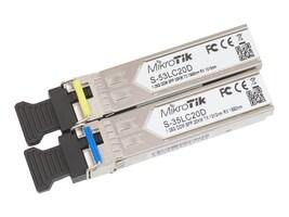 Mikrotik 1.25G SM Optical SFP LC Transceiver (2-Pack), S-3553LC20D, 34022591, Network Transceivers