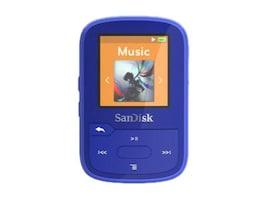 SanDisk Clip Sport Plus Blue Global, SDMX28-016G-G46B, 37200022, Digital Media Players
