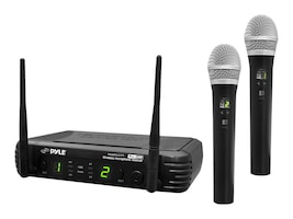 Pyle Premier Series Professional 2-Channel UHF Wireless Handheld Microphone System - Selectable Frequency, PDWM3375, 16549137, Microphones & Accessories