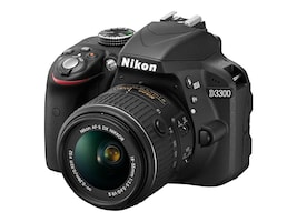 Nikon D3300 DSLR Camera, Black with 18-55mm Lens, 1532, 16774799, Cameras - Digital