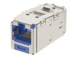 Panduit Mini-Com Keyed Module, Cat 6, Shielded, 8 pos 8 wire, Universal, Blue, TG Style, CJSK688TGBU, 13791171, Premise Wiring Equipment