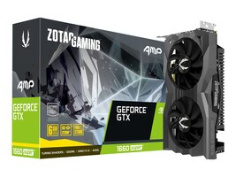 Zotac GeForce GTX 1660 SUPER AMP PCIe 3.0 Graphics Card, 6GB GDDR6, ZT-T16620D-10M, 37719502, Graphics/Video Accelerators