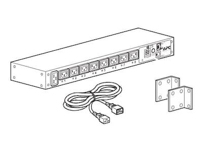 APC Power Distribution Unit, Switched, 1U Rackmount, 208 230V 16A, (8) C13 Outlets, AP7921B, 33790811, Power Distribution Units
