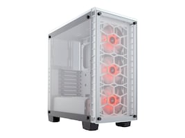 Corsair Chassis, Crystal 460X RGB White, CC-9011129-WW, 34884043, Cases - Systems/Servers