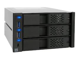 Icy Dock FlexCage 3-Bay 3.5 SATA Hard Drive Enclosure, MB973SP-2B, 15407778, Hard Drive Enclosures - Multiple