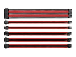 Thermaltake 16AWG Thermaltake TtMod Sleeve Cable Kit, Red Black, AC-033-CN1NAN-A1, 32328334, Cables