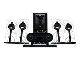 Accessory Power BassPulse 5.1 Surround Sound Computer Speakers w  Powered Subwoofer, GGBP510100BKUS, 36566639, Speakers - PC