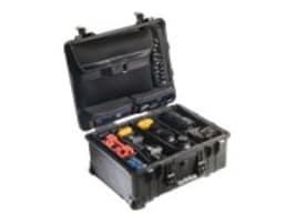 Pelican 1560 Studio Case Black Lid Organizer Wheeled Div Set Lock, 1560-007-110, 16134994, Carrying Cases - Camera/Camcorder