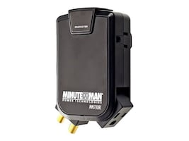 Minuteman Slimline Wall-tap Surge Protector, 3-Outlet 1-Rotating, 1-Rotating Coax, 2160J, 120V, 15A, MMS130RC, 13564593, Surge Suppressors