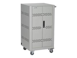 Black Box 30-Unit Basic Charging Cart with Hinged Door, Key Lock, VLC30SK-HD, 33911548, Computer Carts