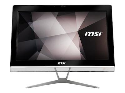 MSI Pro 20EX 8GL-005US AIO Celeron DC N4000 1.1GHz 4GB 500GB+32GB SSD UHD605 ac BT GbE 19.5 HD+ W10P, PRO20EX005, 35741204, Desktops - All-in-One