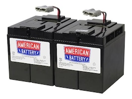 American Battery Replacement Battery Cartridge #55, Sealed Lead-Acid 12V 8Ah, RBC55, 18029119, Batteries - Other