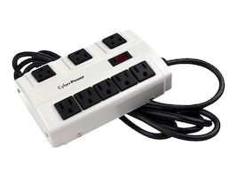 CyberPower Essential Heavy-Duty Surge Protector 900 Joules (8) Outlets, B6010MGY, 32397882, Surge Suppressors