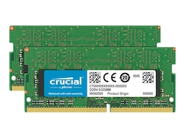 Crucial 32GB PC4-19200 260-pin DDR4 SDRAM SODIMM Kit, CT2K16G4SFD824A, 31234951, Memory