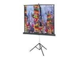 Da-Lite Versatol Tripod Projection Screen, Matte White, 1:1, 70 x 70, 72263, 5105274, Projector Screens