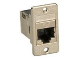 Black Box CAT6 RJ-45 Panel-Mount Couplers, Shielded, Silver, FMT1021, 32874909, Cable Accessories