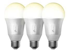 TP-LINK Smart LED Light Bulb, Wi-Fi, Dimmable White, 50W Equivalent, 3-Pack, LB100 TKIT, 33893634, Home Automation