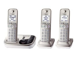Panasonic Expandable Cordless Digital Phone w  Answering Machine & (3) Handsets - Silver, KX-TGD223N, 17729383, Telephones - Consumer