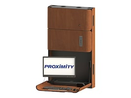 Proximity Classic Series Wall-Mounted Workstation with Monitor Arm and Medication Storage, Wild Cherry, CXT-6007-7054, 33055331, Wall Stations