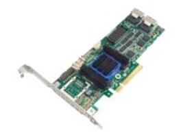 Adaptec 6805 Single RAID 0 1 10 SATA 512MB PCIe 3.3 12V MD2 LP Controller, 2270100-R, 12591215, RAID Controllers