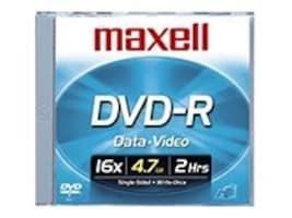 Maxell 16x 4.7GB DVD-R Media (10-pack Jewel Cases), 638004, 6703701, DVD Media