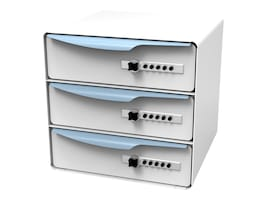 SL Cabinet - Triple 3 Drawers, Button Lock, 73-0821, 33646983, Cart & Wall Station Accessories