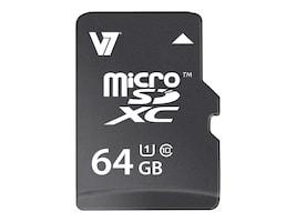 V7 64GB Micro SDXC Flash Memory Card, Class 10, VAMSDX64GUHS1R-2N, 16910691, Memory - Flash