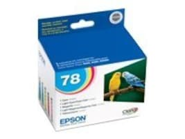 Epson 78 Claria High-Definition Color Ink Cartridges (Multi-Pack), T078920, 7089204, Ink Cartridges & Ink Refill Kits
