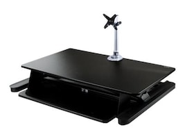 StarTech.com Sit Stand Desk Converter with Monitor Arm for up to 30 Monitors, BNDSTSLGPVT, 37662489, Furniture - Miscellaneous