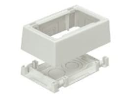Panduit Single Gang Low Voltage Outlet Box, Adhesive Mounting for Screw-on Faceplates, Int'l Gray, JBX3510IG-A, 12190770, Premise Wiring Equipment