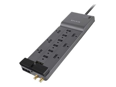Belkin Home Office Series Surge Protector, 4156 J, (12) Outlets, Tel Coax Ethernet - 20% off Savings, BE112234-10, 7074889, Surge Suppressors