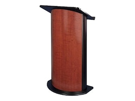 AmpliVox Curved Cherry Panel Lectern, SN3145, 32007354, Furniture - Miscellaneous