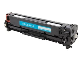 Ereplacements CE411A Cyan Toner Cartridge for HP LaserJet Pro 300 & 400 Series, CE411A-ER, 18373809, Toner and Imaging Components