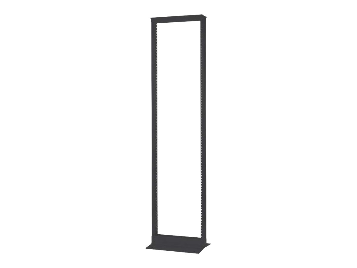 C2G 45U 2-Post Open Frame Rack, Black, 14588, 30593871, Racks & Cabinets
