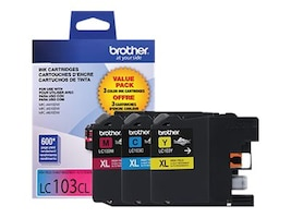 Brother Innobella High Yield (XL Series) Color Ink Cartridges for MFC-J4510DW (Cyan, Magenta & Yellow), LC1033PKS, 14714776, Ink Cartridges & Ink Refill Kits - OEM