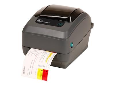 Zebra GX430T 300dpi Thermal Transfer USB Serial Ethernet EPL ZPL Printer, GX43-102411-000, 13402957, Printers - Label