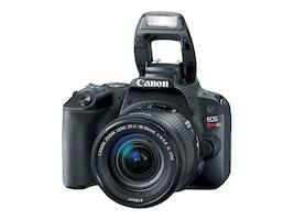 Canon EOS Rebel SL2 DSLR Camera with 18-55mm Lens, Black, 2249C002, 35159206, Cameras - Digital