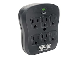 Tripp Lite Datashield Surge Protector Direct Plug-in 540 Joules, (6) Outlets, Black, SK6-0B, 9371908, Surge Suppressors