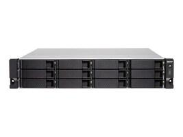Qnap 3U 12-Bay 10GbE NAS & iSCSI IP-SAN Intel XEON E-2124 4Core 3.3GHZ Processor Storage, TS-1283XURPE21248GUS, 36763608, SAN Servers & Arrays