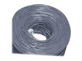 Premiertek CAT5E 24AWG UTP Solid Cable, Gray, 1000ft, CAT5E-1KFT-GY, 34193891, Cables