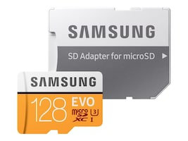 Samsung 128GB EVO MicroSDXC Card with Adapter, MB-MP128GA/AM, 33749528, Memory - Flash