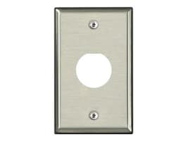 Leviton Single-Gang Stainless Steel DuraPort Industrial Wallplate, D6710-1S1, 34572517, Premise Wiring Equipment