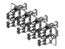 Panduit 8-Port LC 10Gig Duplex MM Fiber Optic Adapter (Aqua) w Zirconia Ceramic Split Sleeves, FAP8WAQDLCZ, 34483063, Patch Panels