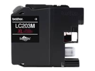 Brother Magenta LC203M High Yield Ink Cartridge, LC203M, 17539521, Ink Cartridges & Ink Refill Kits