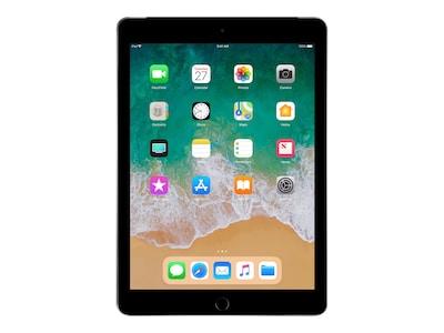 Apple iPad 9.7 128GB, Wi-Fi + Cellular, Space Gray, MR7C2LL/A, 35365536, Tablets - iPad