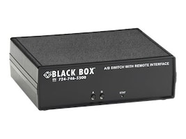 Black Box Remotely Controlled Layer 1 A B Switch, DB9, SW1047A, 32877368, Network Switches