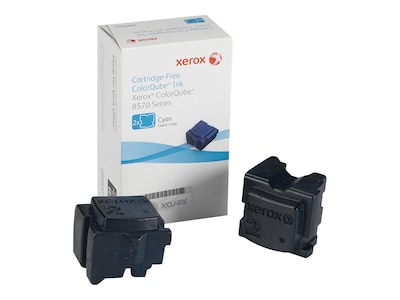 Xerox Cyan Ink Sticks for ColorQube 8570 & 8580 Series (2-pack), 108R00926, 12150399, Toner and Imaging Components