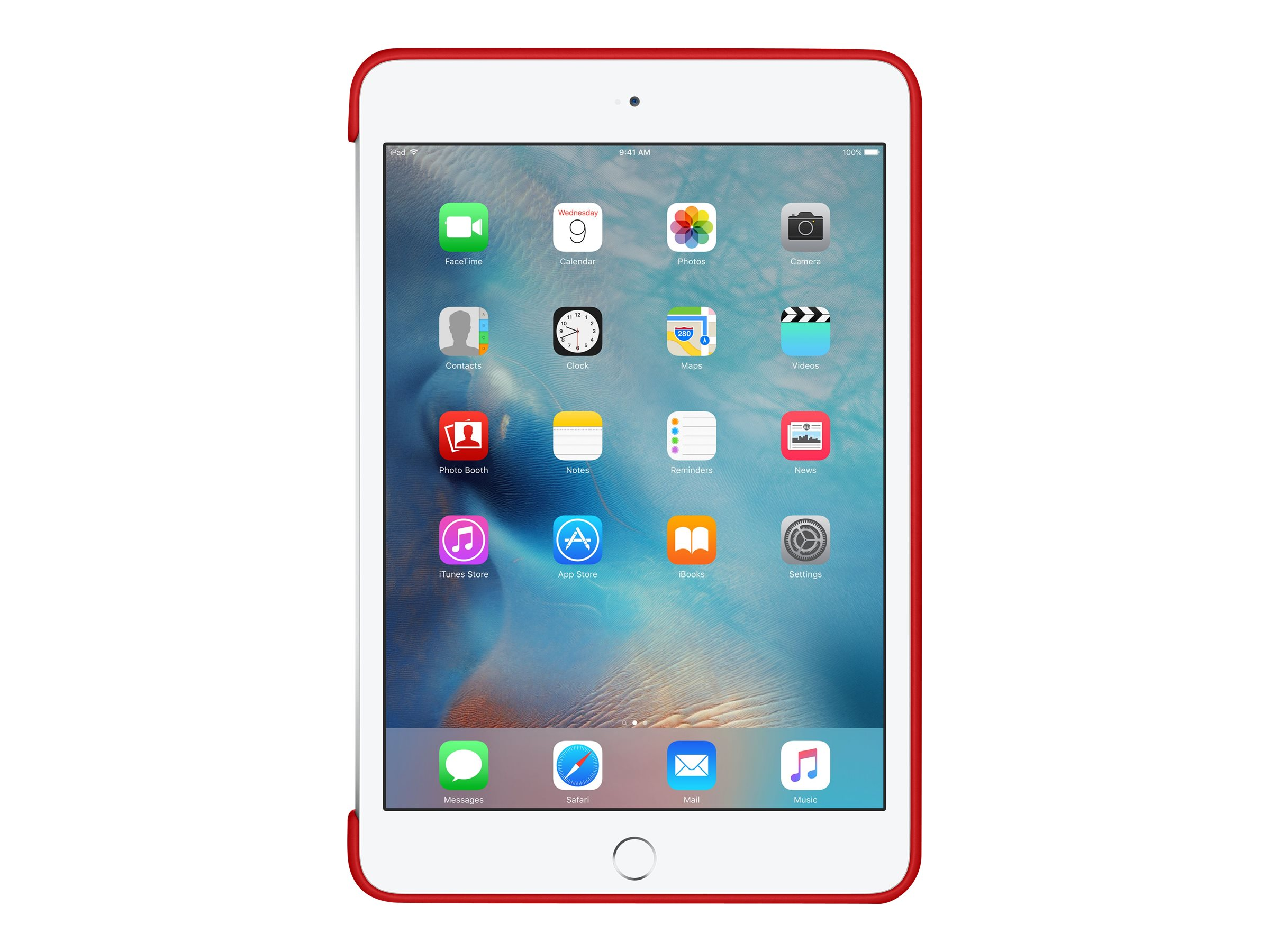 Apple Silicone Case for iPad mini 4, Red, MKLN2ZM/A, 32668638, Carrying Cases - Tablets & eReaders