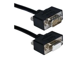 QVS Hi-Performance Ultra Thin VGA QXGA Cable, HD-15 (M-F), Tripple Shielded, 25ft, CC320M1-25, 12530412, Cables